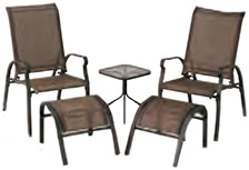Verona 5 Piece Chat Set