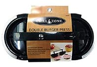 Grill Zone Double Burger Press