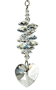 Crystal Heart Cascade Suncatcher Ice