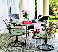 Melrosa 5 piece dining patio set