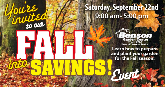 You're Invoted to Our Fall into Savings Eent Sept. 22nd