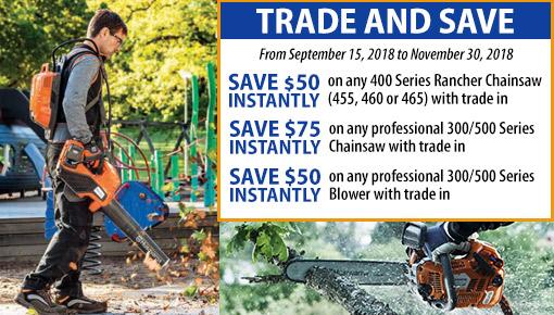 Husqvarna Trade and Save deals