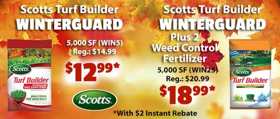 Scotts Winterguard save $2 with Instant Rebates