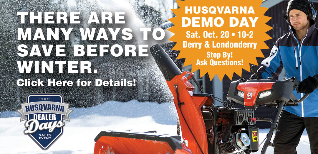 Husqvarna Demo Day Oct 20 10-2