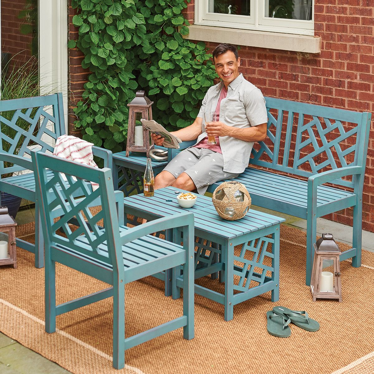 Astounding Patio Furniture And Decor Benson Lumber Hardware Evergreenethics Interior Chair Design Evergreenethicsorg