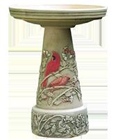 Summer-Cardinal-birdbath