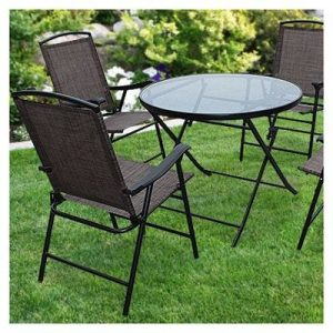 5pc-Folding Chair and Table Set