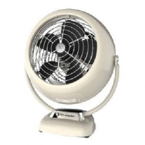 VORNADO V Fan Junior Vintage Air Circulator, Creme Metal