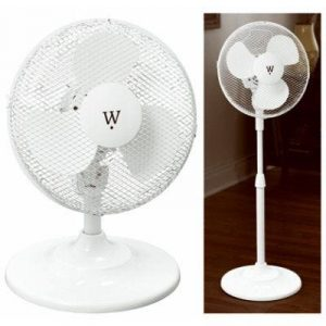 WESTPOINTE Stand/Table Fan, 3-Speed, 12-In.