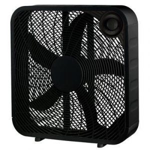 HOMEPOINTE Box Fan, Black, 20-In.